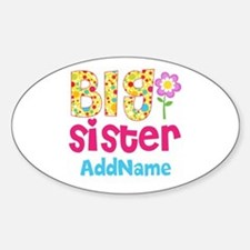 Big Sister Pink Teal Floral Persona Decal