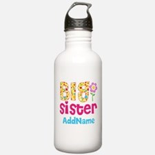 Big Sister Pink Teal F Water Bottle