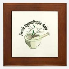 Fresh Ingredients Framed Tile