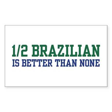 1/2 Brazilian Rectangle Sticker