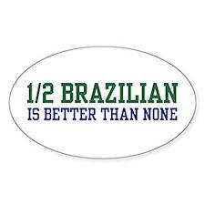1/2 Brazilian Oval Decal