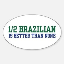 1/2 Brazilian Oval Decal
