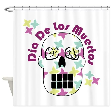 Dia De Los Muertos Shower Curtain By Windmill47