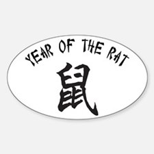 Year Of The Rat Oval Decal