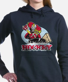 Hockey Player Women's Hooded Sweatshirt