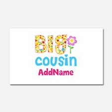 Big Cousin Floral Dots Personal Car Magnet 20 x 12