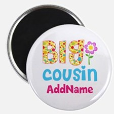 Big Cousin Floral Dots Personalized Magnet
