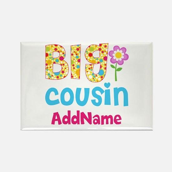 Big Cousin Floral Dots Personaliz Rectangle Magnet