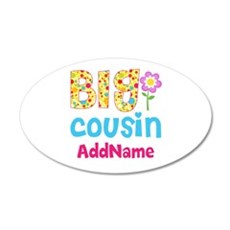 Big Cousin Floral Dots Perso Wall Decal