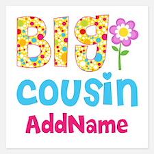 Big Cousin Floral Dots Pers Invitations