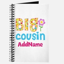 Big Cousin Floral Dots Personalized Journal