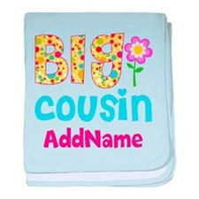 Big Cousin Floral Dots Personalized baby blanket