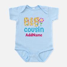 Big Cousin Floral Dots Personalize Infant Bodysuit