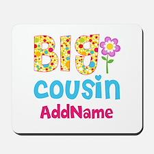 Big Cousin Floral Dots Personalized Mousepad