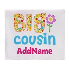 Big Cousin Floral Dots Personalized Throw Blanket