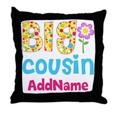 Big Cousin Floral Dots Personalized Throw Pillow