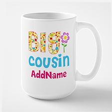 Big Cousin Floral Dots Personalized Mug