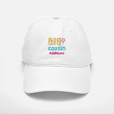 Big Cousin Floral Dots Personalized Baseball Baseball Cap