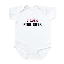 I Love POOL BOYS Infant Bodysuit
