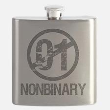 Nonbinary Pride Flask