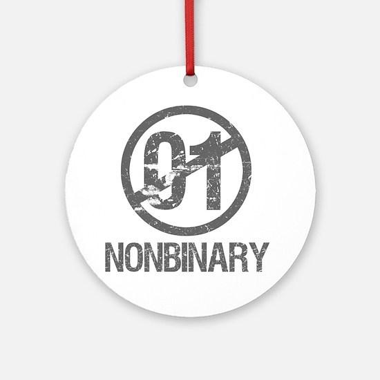 Nonbinary Pride Round Ornament
