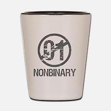 Nonbinary Pride Shot Glass