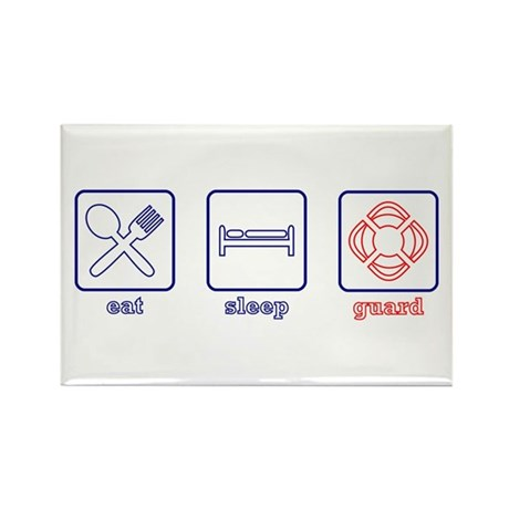 Eat. Sleep. Guard. Rectangle Magnet (10 pack)