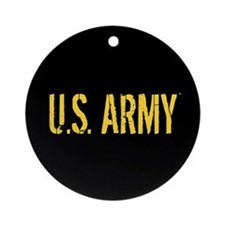 U.S. Army: Black and Gold Ornament (Round)