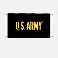 U.S. Army: Black & Gold Banner
