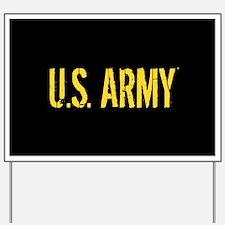 U.S. Army: Black & Gold Yard Sign