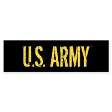 U.S. Army: Black and Gold Bumper Bumper Sticker