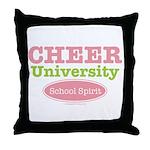 Cheer U School Spirit Cheerleader Throw Pillow