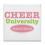 Cheer U School Spirit Cheerleading Tile Coaster