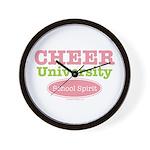 Cheer U School Spirit Cheerleader Wall Clock