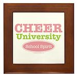 Cheer U School Spirit Cheerleader Framed Tile