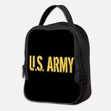 U.S. Army: Black & Gold Neoprene Lunch Bag
