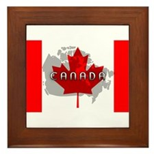 Canada Flag Extra Framed Tile