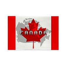 Canada Flag Extra Rectangle Magnet