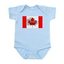 Canada Flag Extra Infant Bodysuit