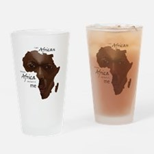 Africa was Born in Me Drinking Glass