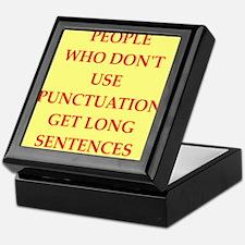 punctuation Keepsake Box