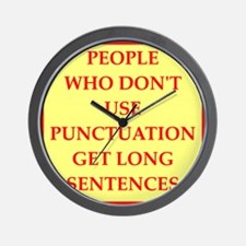 punctuation Wall Clock