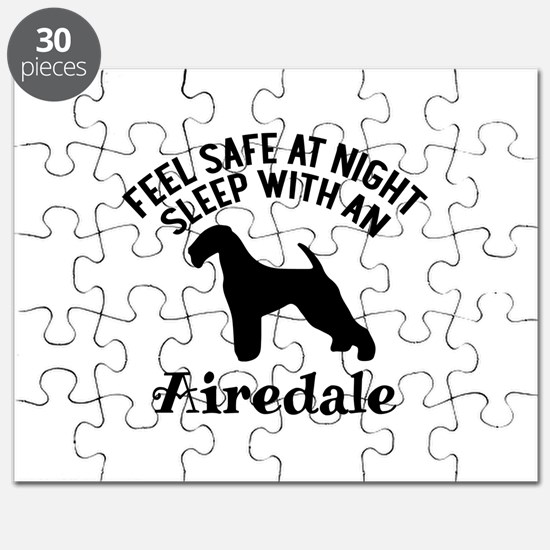 Sleep With Airedale Dog Designs Puzzle