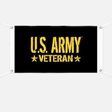 U.S. Army: Veteran (Gold Stars) Banner