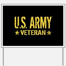 U.S. Army: Veteran (Gold Stars) Yard Sign