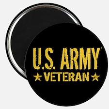 "U.S. Army: Veteran (Gold St 2.25"" Magnet (10 pack)"