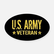 U.S. Army: Veteran (Gold Stars) Oval Car Magnet