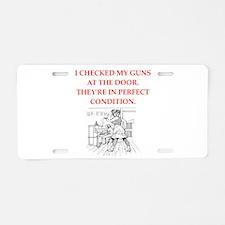 gun control Aluminum License Plate