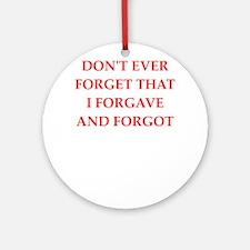forgiveness Ornament (Round)