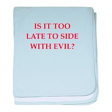 evil baby blanket